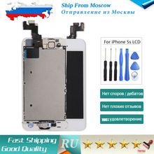 SHIP FROM RUSSIA For iPhone 5S LCD Display Touch for iphone 5s Screen Digitizer Home Button+Front Camera Speaker Assembly +Tools(China)