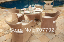 NEW!Patio rattan dining Furniture Set(China)