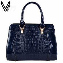 2016 VEEVANV Top Quality Patent Leather Handbags For Women Fashion Leather Messenger Bags 5 Colors Tote Bags Girls Street Bags