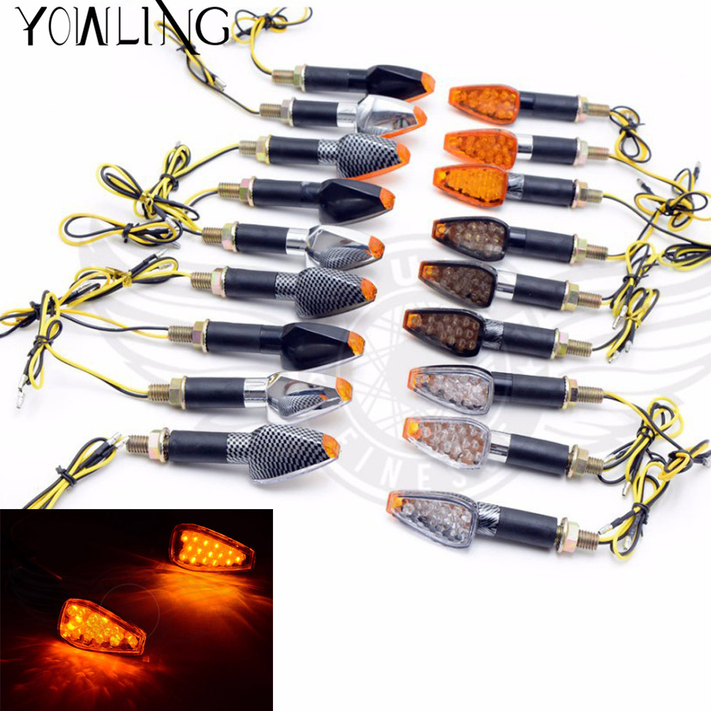 2pieces high quality carbon fiber Amber SMD 12 LEDS Turn Signal Light Bulb Indicator flasher 12V for all motorcycle