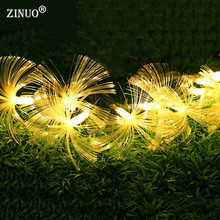 ZINUO Fiber Fairy Led String Light Garland Outdoor 2.5M 10Leds Christmas String Light 9 colors battery Powered Wedding Light(China)
