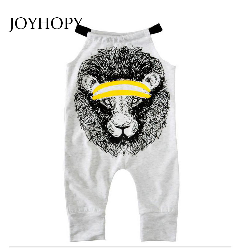 JOYHOPY Kids Overalls Summer Lion Print Fashion Infant Clothing Girl Bib Overall Christmas Gift Baby Girl Clothes(China (Mainland))