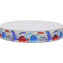 Dobro Lovely Red Blue Dinosaurs Printed Grosgrain Ribbon for Diy Materials Craft Gift Event Decos AC4183