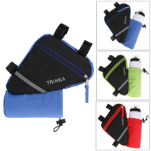 Buy 2017 New Waterproof Triangle Cycling Bicycle Bags Front Tube Frame Bag Mountain Triangle Bike Pouch Holder Saddle Bag for $3.37 in AliExpress store