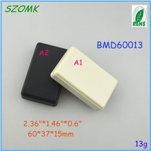 1pcs small enclosure White and black color plastic terminal box 60*37*15mm 2.36*1.46*0.6 inch abs plastic material