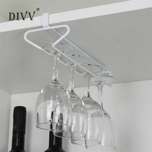DIVV Useful Fashion Bar Red Wine Glass Hanger Holder Hanging Rack Shelf hold up Kitchen Storage Rack u70515 DROP SHIP(China)