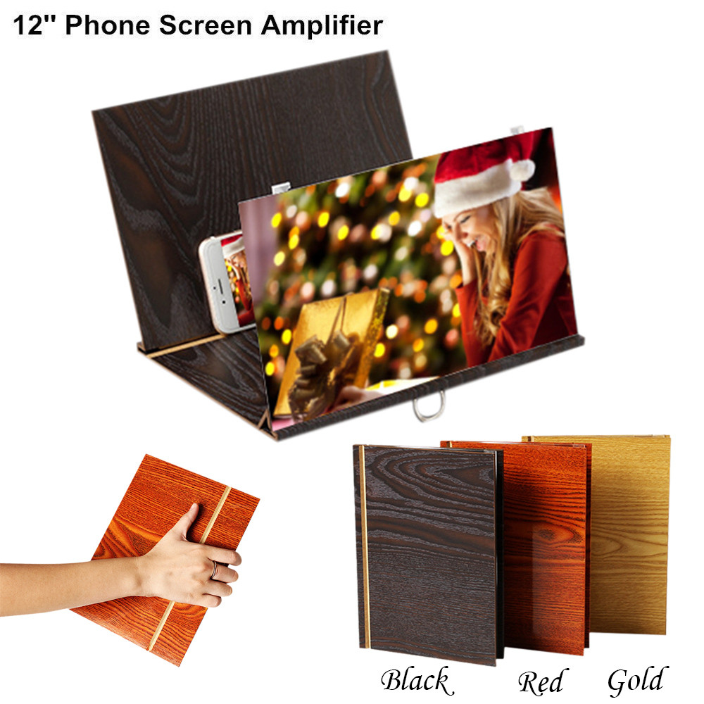 Universal Cell Phone 12 Inch 3D Screen Magnifier & Holder