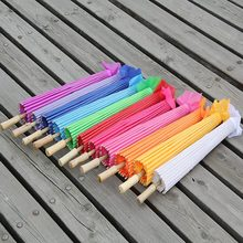Free shipping 10pcs/lot Children size Small Chinese art umbrella wedding parasol with 12colors for choice for bridesmaide