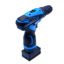 Brand 25V Cordless electric drill bit with 1pcs rechargeable Lithium Battery electric screwdriver power tool + 27pcs accessories(China)