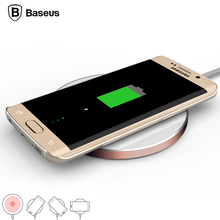 Baseus Qi Wireless Charger For iPhone Charging Dock Station Wirless Charger For Samsung S7 edge Note 4 5 Wireless Charger