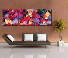 3 Piece Unframed Quadros De Parede Para Sala Landscape Maple Leaf Canvas Wall Art Picture Oil Paintings by Numbers Home Decal(China)