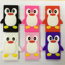 Cute 3D Penguin Cartoon Soft Silicone Case Cover for Apple iPod Nano 7 7th Skin cover Free Shipping(China)