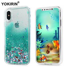Buy YOKIRIN Phone Case Apple iPhone X Dynamic Liquid Glitter Bling Sand Star Quicksand Hard PC Cover iPhone X Phone Cases for $2.13 in AliExpress store