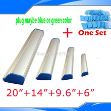 "Four Pieces (6""+9.6""+14""+20"") Emulsion Scoop Coater for Screen Printing Machine Plate with Fast Shipping Fee Aluminum Material"