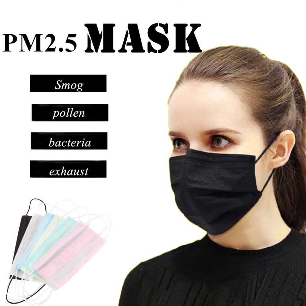Face-Surgical-Masks Dental-Earloop Disposable Non-Woven Anti-Dust Medical 50pcs/Pack title=