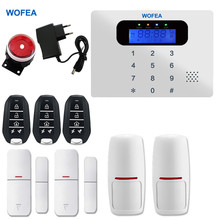 Wofea touch Russian English French Spanish polish android IOS APP GSM Home alarm system security home alarm gsm alarm(China)