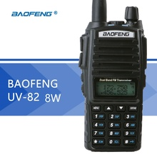 Baofeng UV-82 8W Walkie Talkie Dual PTT High Power Two-Way-Radio 128CH VOX Flashlight Ham Radio Station Portable FM Transceiver