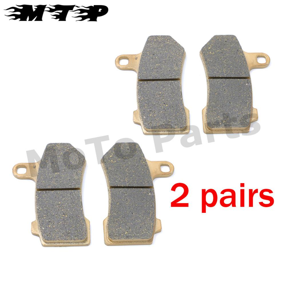 4 Pcs Motorcycle Front Brake Pads for Harley FLHRC Road King Classic FLHTCU Ultra Classic Electra Glide VRSCF V-Rod Muscle 08-14<br><br>Aliexpress