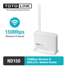 TOTOLINK ND150 150Mbps WiFi ADSL2/2+ Modem Router with External Antenna