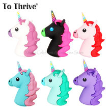 Real 2000mAh Portable Power Bank Battery  Charger Unicorn Cartoon USB For Iphone 4S 5 5S 6 6S SE Xiaomi Sumsung