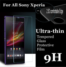 Front Screen Protector Tempered Glass for Sony Xperia M4 M5 E1 E4 T2 T3 C3 C4 Z1 L39H Z L36H 2.5D 9H Ultra Thin Protective Film(China)