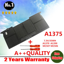 "Wholesales new Laptop Battery For Apple MacBook Air 11"" A1370 (2010 Production)  Replace A1375 battery  free shipping"