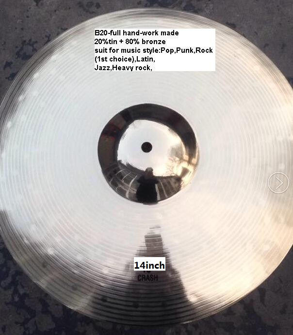 Professional B20 14 crash Cymbal for Drum Set<br><br>Aliexpress