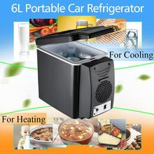 KROAK 6L Portable Mini Car Freezer Fridge Camping Car Boat Caravan Cooler Warmer Multi-function 12V Travel Refrigerator(China)
