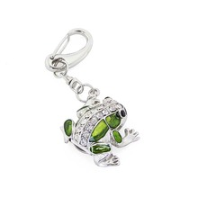 Cute Diamond Frog USB Flash Drive USB 2.0 U Disk Pen Drive 4GB 8GB 16GB 32GB 64GB 128MB Pendrive Memory Stick with Key chain