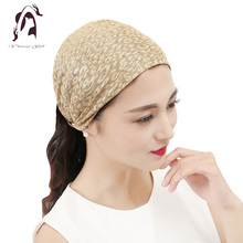 2017 Hot Women Elastic Headband Cotton Hair Accessories Twisted Knotted Wide Hair Turban Hair Bands Accessories(China)
