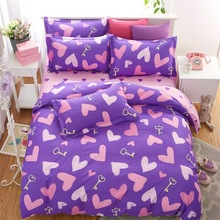 Fashion Children Cartoon Soft Comfortable Bedding Set 4pcs Duvet Cover Pillowcase Bed Sheet Sets Home Textile Student Dormitory(China)