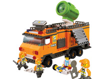 Sluban B0105 SRS Rescue Team Enlighten Bricks Lighting Command Vehicle Kids Toys Educational Sets Compatible With Legoe