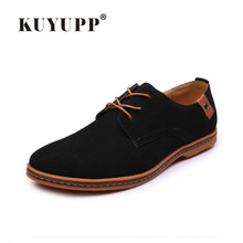 KUYUPP Men's Suede Leather Oxford Flats Shoes Lace-up Business Casual Shoes 2017 New Clasic Mens Shoes zapatos hombre SD05652