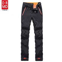 Winter women ski pants waterproof soft shell fleece pant thicken outdoor thermal fleece snowboard trousers skiing snow pants(China)