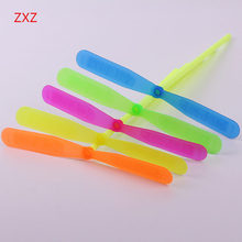 5 pcs Colorful Funny Bamboo dragonfly Toy LED Rotate Flying Apsaras Frisbee Flying Saucer Disc Kids Toy  Children New Year Gift