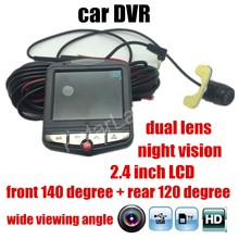hot sale dual lens GT300 Car DVR Full HD front 140 Degree and rear 120 degree wide viewing angle Cycle Recording Video