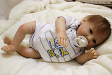 "New Fashion 20"" Lifelike Reborn Baby Dolls Full Body Silicone Jointed With the Floral Clothing Reborn Silicone Baby Dolls"