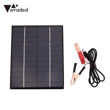 Amzdeal DC 12V 5.5W Polysilicon Solar Panel Supply Battery Board Waterproof Boat Motorcycles Outdoor Charger Solar Cells(China)