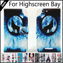 For Highscreen Bay Wallet Card Slots Book Style Flip PU Leather Case Cover Phone Case Fashion!