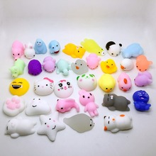 10pc/lot different models Mochi antistress ball Mini Squeeze Squishy Kawaii doll Squeeze Stretchy Animal Healing Stress kids toy(China)