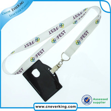 Free shipping charge for 100pcs/lot Manufacturer Custom Silkscreen printed lanyards(China)