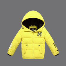 New Children Jackets For Boys Girls Winter Down Cotton Jacket boys Padded Cotton Hooded Coat High Quality Children Winter Coat(China)