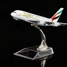 1:400 16cm The United Arab Emirates Airbus A380 Metal Airplane Model Office Decoration Toy Gift Idea(China)