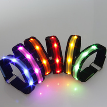 Led Dance 15pcs/lot Electronic New Led Bracelet,fashion Bracelet,arm Wristband,5colors Party Supplies Happy Birthday Decoration
