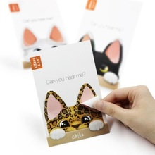 1pcs/lot  Cute Cat Ears design Memo Notepad kawaii Writing scratch pad message note Students' gift office school supplies