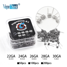 Buy Vapethink 50/100/200pcs A1 Premade Heating Wire electronic cigarette rta rda atomizer wick vape prebuilt coil wire Wholesale for $4.51 in AliExpress store