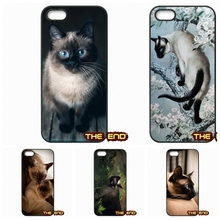 For Samsung Galaxy Note 2 3 4 5 S2 S3 S4 S5 MINI S6 Active S7 edge Blue Point The Traditional Siamese Cat Phone Cases Covers