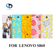 design Cell phone cases cover white hard cases for lenovo s860 banana fruit Fashion phone Back Cover