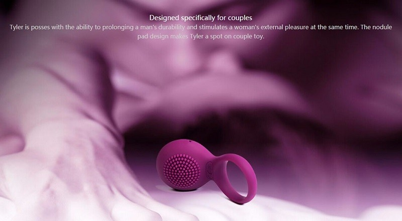Original SVAKOM TYLER Vibrating Cock Ring Waterproof Rechargeable Penis Ring Vibrator for Men Sex Toys for Couples Sex Products 8