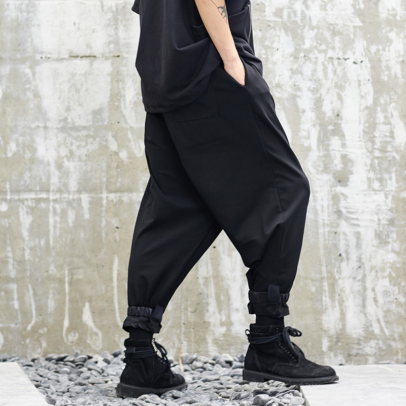 Men New Japan Style Loose Casual Pant Male Hip Hop Streetwear Punk Style Cross Trousers Harem Pant Joggers Sweatpants